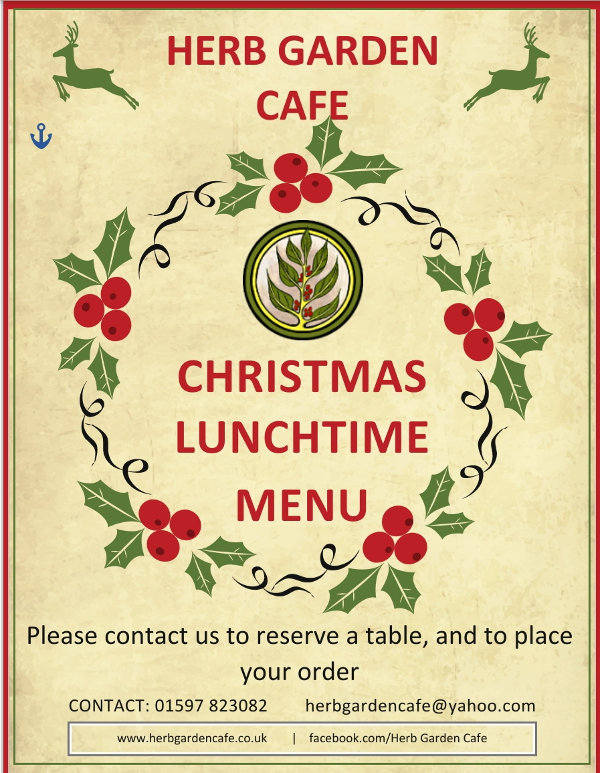 Christmas lunchtime menu - cover